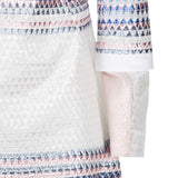 Triangle Dress long sleeve blue purple pink white front close-up image photo picture
