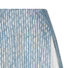 Blue Split Godet Skirt blue silver stripe texture front close-up image photo picture