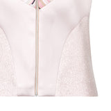 Diagonal Vest haltar sleeveless crop top pink stripe, solid stretch front close-up image photo picture