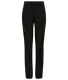 Black Sided Trouser pant pants slacks solid contrast panel sequin front image photo picture