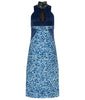 Zoom Dress long formal eveningwear sleevelss blue, stretch hexagon sequin sparkle front image photo picture