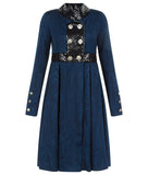 170611C-Navy Placket Coat