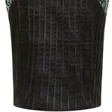 Dark X Skirt black stretch silver sequin contrast front close-up image photo picture
