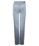 Ruched Pocket Trouser pant pants slacks taupe ruche grey gray shiny stretch back image photo picture