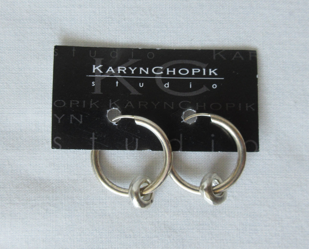 Karyn Chopik Earrings sterling silver small rings image photo picture