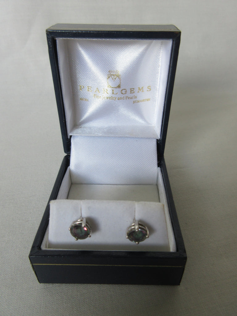 Pearlgems grey stone earrings in box image photo picture