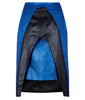 Sparkle Open Skirt front view blue black image photo picture