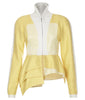 Yellow Mixed Jacket front view beige, white, image, photo picture