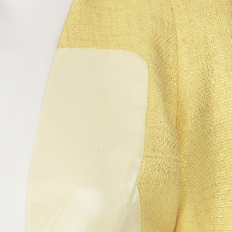 Yellow Mixed Jacket lower zoom beige white image photo picture