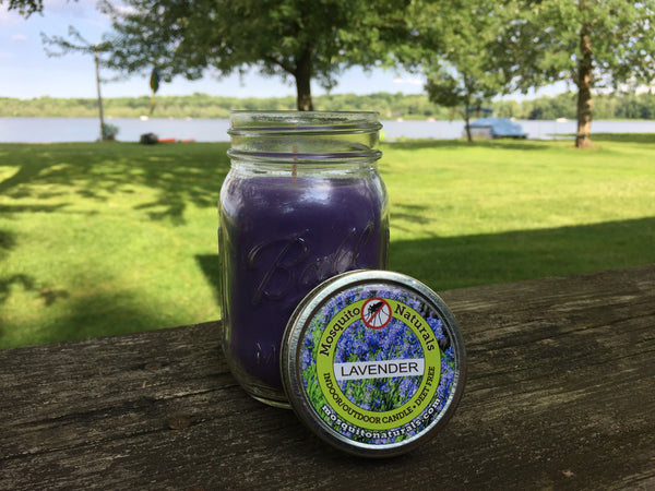Natural Lavender Mosquito Repellent Candle