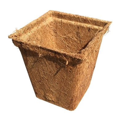 "54 Coco Fiber Seed Starter Biodegradable Pots (3.5"" Square Pots) Includes 24 Wooden 6"" Label Tags"