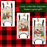 Christmas Sled Wooden Ornaments (set of 3) Santa Claus & Snowmen