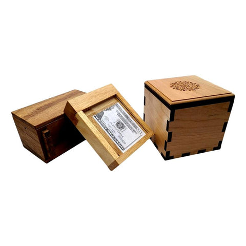 Gift Card and Money Holder Puzzle Boxes