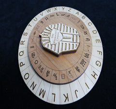 egyptian cipher wheel escape room prop