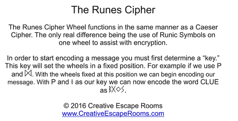Rune Cipher Escape Room Prop