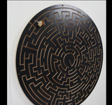 black escape room key maze