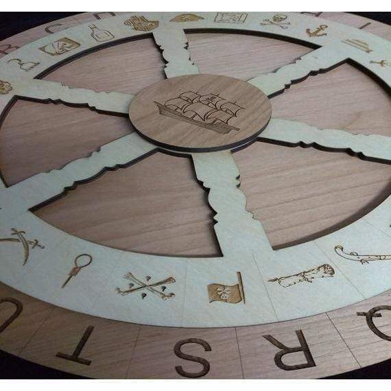 Creative Escape Rooms 16 inch Pirate Themed Escape Room Cipher Wheel