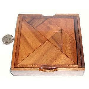 Creative Escape Rooms 7 Piece Tangram Classic Wood Brain Teaser Puzzle