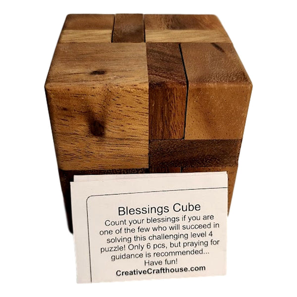 Creative Escape Rooms Blessings Cube Wood Sequential Puzzle