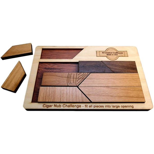 Creative Escape Rooms Cigar Nub Wood Puzzle and Brain Teaser