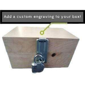 Creative Escape Rooms Customize Your Wood Box with Hasp With an Personalized Engraving