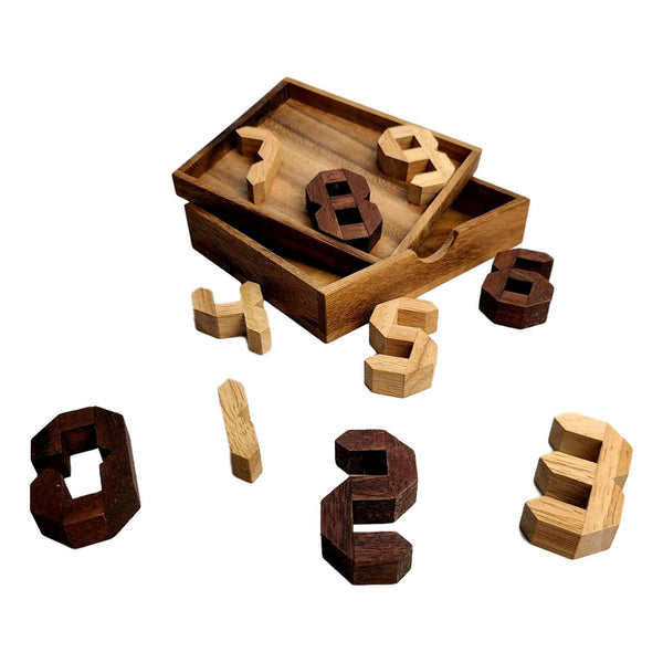 Creative Escape Rooms Digigrams - Count on Me Wood Brainteaser