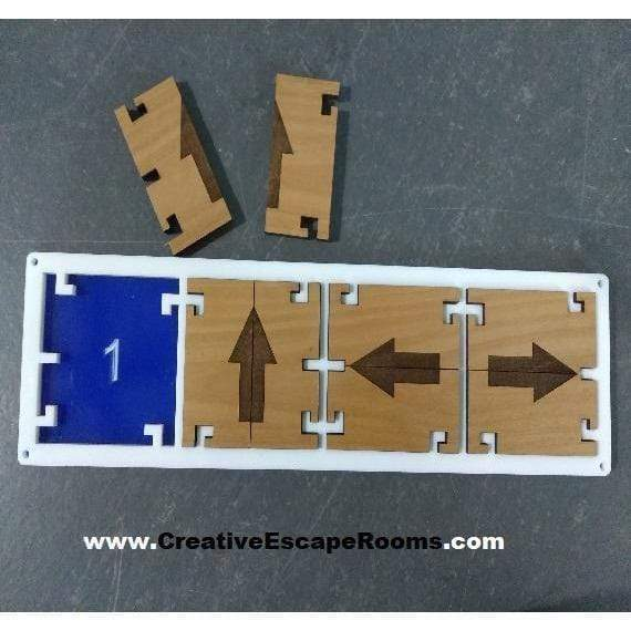 Creative Escape Rooms Directional Lock Combo Puzzle ACRYLIC for Escape Rooms