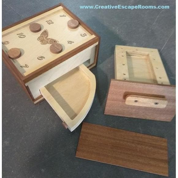 Creative Escape Rooms Double Drawer Mag Lock Box Escape Room Puzzle Box