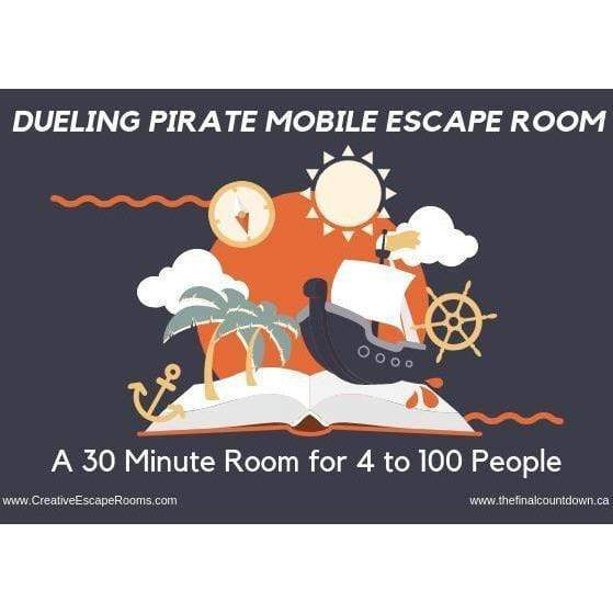 Creative Escape Rooms Dueling Pirate 30 Minute Mobile Escape Room - 4 to 100 players!