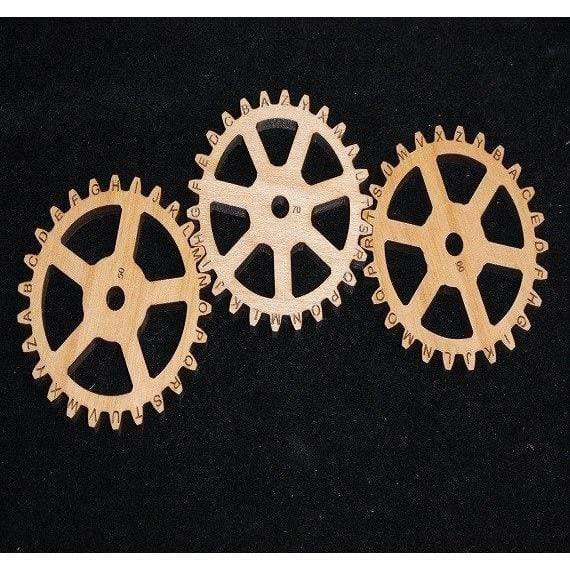 Creative Escape Rooms Extra Enigma II Size LARGE Gears - Escape Room Puzzle and Prop