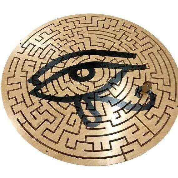 Creative Escape Rooms Eye of Horus Circle Key Maze for Escape Rooms - Egyptian Themed