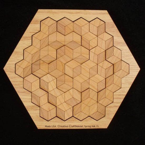 Creative Escape Rooms Hexagon 10 Wood Puzzle - Multiple Solutions!