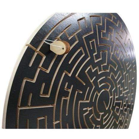 Creative Escape Rooms Key Maze Puzzle for Escape Rooms - Round Black Version