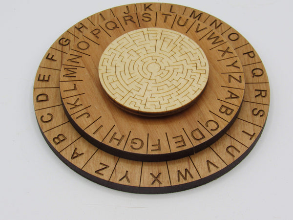 Creative Escape Rooms Labyrinth Cipher Wheel - Decoder Ring Escape Room Prop