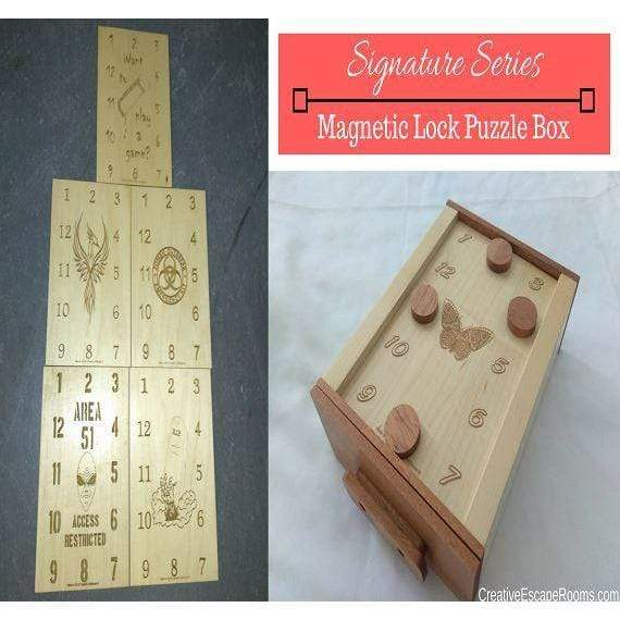 Creative Escape Rooms Magnetic Lock Puzzle Box for Escape Rooms - Signature Series