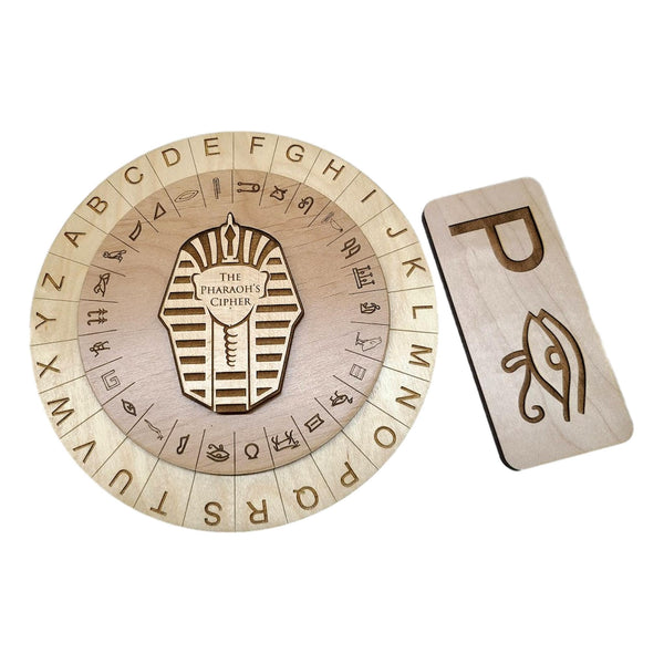Creative Escape Rooms Pharaoh's Cipher Wheel And Key Combo- Escape Room Props