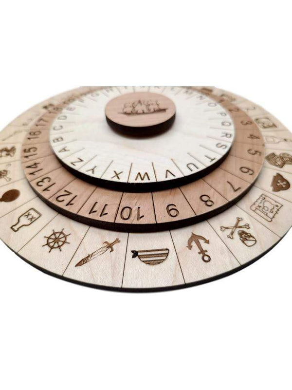 Creative Escape Rooms Pirate Cipher Wheel II for Escape Rooms