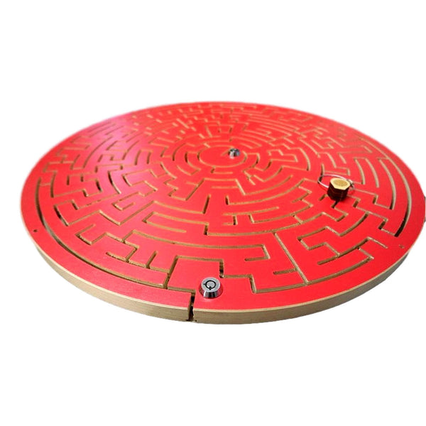 Creative Escape Rooms Red Gated Key Maze for Escape Rooms