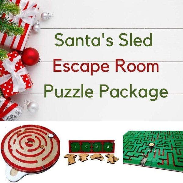 Creative Escape Rooms Santas Sled Christmas Themed Escape Room Puzzle Package