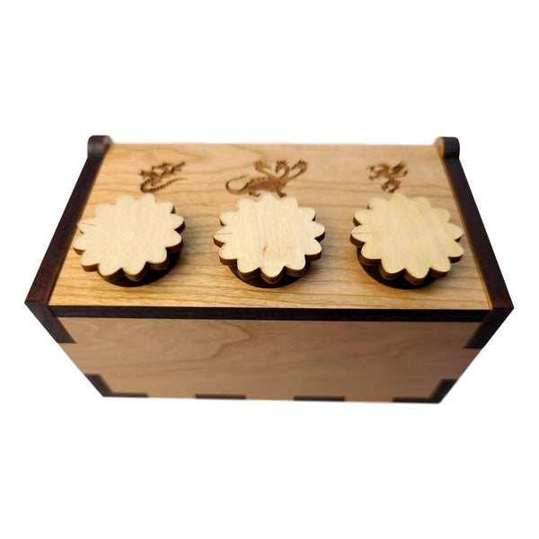Creative Escape Rooms Secret Dragon Lock Box - Puzzle Box for Escape Rooms