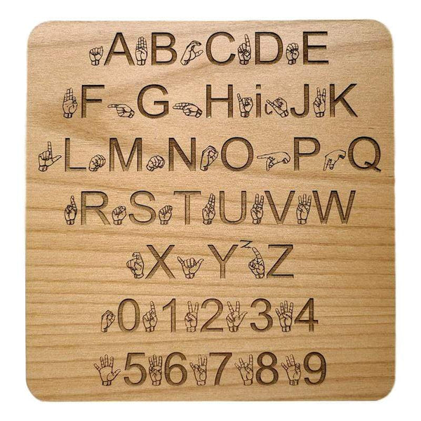 Creative Escape Rooms Sign Language Wall Panel Key for Escape Rooms