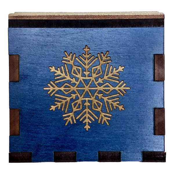 Creative Escape Rooms Snowflake Stash Box - A Beautiful Christmas Themed Puzzle Box - Spin Box