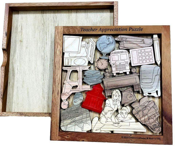 Creative Crafthouse Teachers Appreciation Puzzle - Personalize With an Engraved Name or Message
