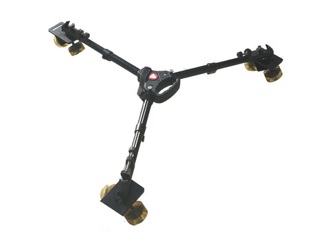 CobraCrane Collapsible tracking dolly with 90 degree offset wheel sets