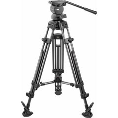 3 stage aluminum tripod legs and 501 compatible fluid head make this an exceptional value.