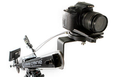 Cobracrane offers a wide variety of camera cranes for virtually any DSLR starting at only $99.99.  The Cobracrane BackPacker can support a full size DSLR up to 6.5lbs.