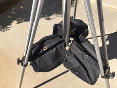 weight bags help keep lighter tripods stable. ideal for use with camera crane, camera jib, dslr jib crane