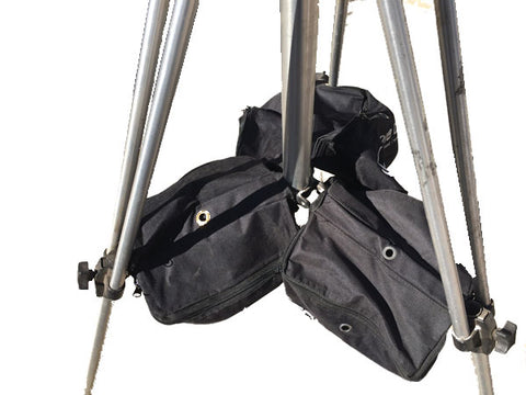 CobraCrane weightbags used to secure tripod