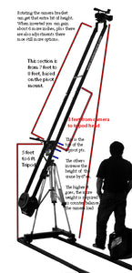 CobraCrane 2HD 10 Foot Dual Arm Heavy Duty Camera Jib