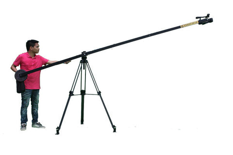 Black Desert Lite 12 foot Single arm Jib w/Dolly, Remote Pan Tilt & BackPack